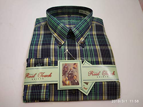 - Men's Long Sleeve Line-Plain Leisure Checks Shirt from India