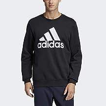 Adidas Sudadera de Forro Polar, diseño con Texto Must Have Badge of Sport Sudadera con Capucha para Hombre