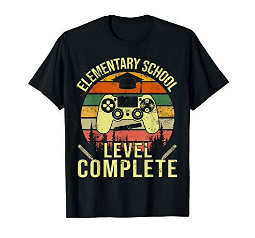 Elementary School Graduation Shirt Gamer Graduation Gifts T-Shirt