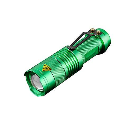 2019 New Powerful Light Xpe/Q5 Flashlight Mini Torch Portable Light Small Penlight Flash Light Hunting By Aa/14550 Battery,Light Green (Best New Vape Mod 2019)