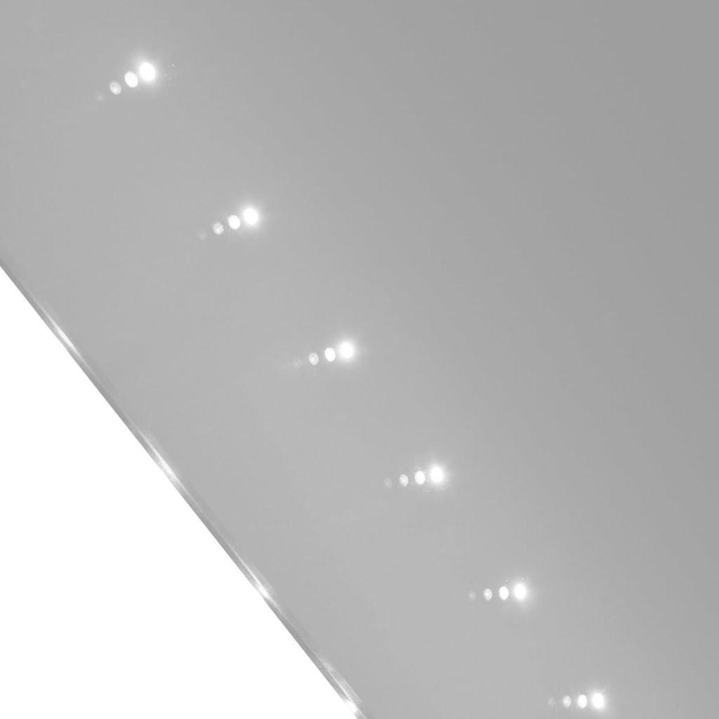 Vislone Badspiegel mit LED Beleuchtung Lichtspiegel Badezimmerspiegel Wandspiegel Warmwei/ß 50 x 60 cm