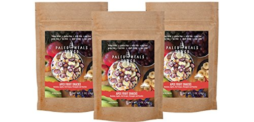 Wild Zora - Paleo Meals To Go - Apex Fruit Snacks (3-pack) Freeze Dried Lightweight Paleo Snacks for Backpacking, Camping, and on the Go