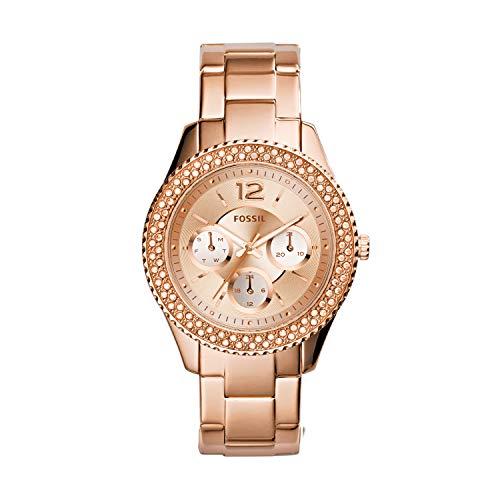 Fossil Damen Analog Quarz Uhr mit Edelstahl Armband ES3590