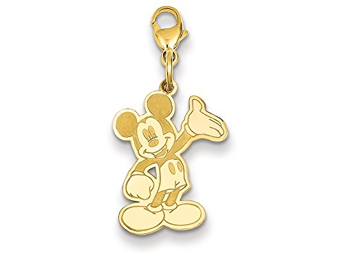 Disney Waving Mickey Lobster Clasp Charm 14kt
