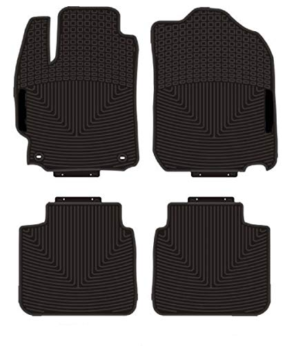 Kaungka Heavy Rubber Car Front Floor Mats Compatible with 2011-2017 Toyota Camry -All Weather and Season Protection Car Carpet