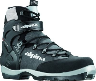 (Alpina BC-1550 Back-Country Nordic Cross-Country Ski Boots, for use with NNN-BC Bindings, Black/Silver, 46)