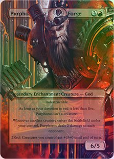 Purphoros, God of the Forge - Casual Play Only - Customs Altered Art Foil Forge Art