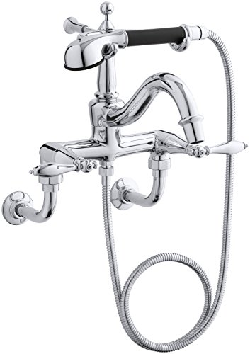 KOHLER K-331-4M-CP Finial Traditional Bath Faucet, Polished ()