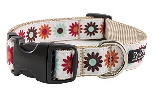 Paw Paws USA Hula Flowers Dog Collar, Medium, Multicolored ()