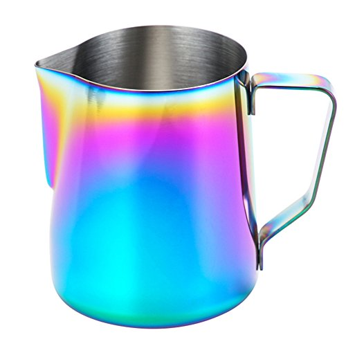 Milk Frothing Pitcher – WeHome Stainless Steel Coffee Milk Frothing Pitcher Creamer Frothing Cup for Espresso Cappuccino…
