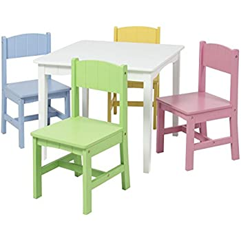 amazon com best choice products wooden kids table and 4 chairs set