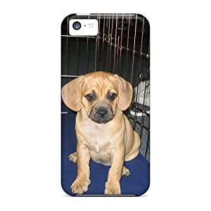 Awesome Puggle Flip Case With Fashion Design For Iphone 5c