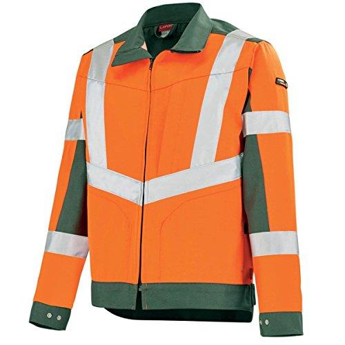 oscuro y de Chaqueta oscuro Orange Hivi Fluo verde trabajo qc4W6RwWS