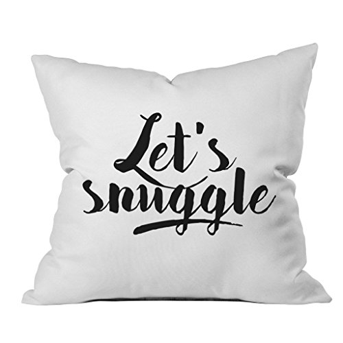 OH, SUSANNAH Let's Snuggle 18x18 Inch Throw Pillow Cover