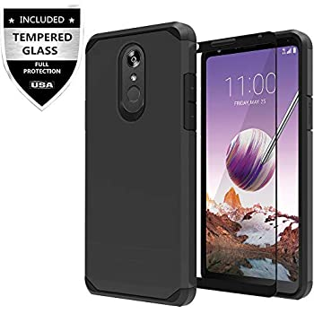 huge discount 51a23 19d91 LG Stylo 4 Case, LG Stylo 4 Plus Case, LG Q Stylus Case with Tempered Glass  Screen Protector,IDEA LINE Heavy Duty Protection Hybrid Hard Shockproof ...