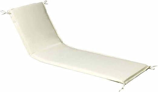 PAPILLON 8097020 Cojin para Tumbona 200x65x5 cm. Beige Desenfundable: Amazon.es: Jardín