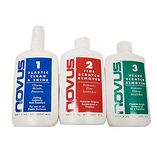 (Novus Plastic Polish & Cleaning Set - 8 oz. )