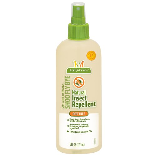 Babyganics Natural Insect Repellent, 6 oz (Pack of 2), Packaging May Vary