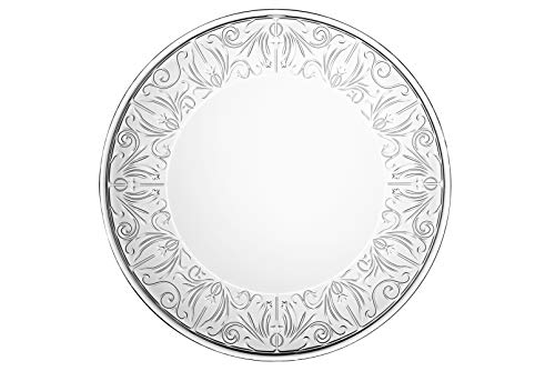 - Glass Large Plate - Charger - Lead Free Crystal -Beautiful Designed Border - 13