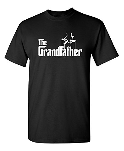 (Feelin Good Tees The Grandfather Gift for Dad Father's Day Mens Funny T Shirt L Black)