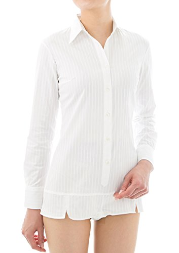 LEONIS Long FAVORITES donna 2 Sleeve amp; Camicia Stripe SHIRTS White r1YEnxTqr