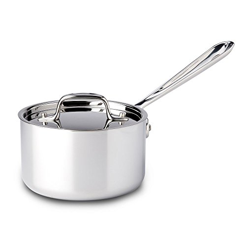All-Clad-4201-Stainless-Steel-Tri-Ply-Bonded-Dishwasher-Safe-Sauce-Pan-with-Lid-Cookware