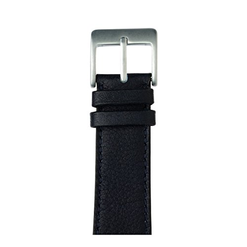 Roobaya | Premium Sauvage Leather Apple Watch Band in Dark Blue | Includes Adapters matching the Color of the Apple Watch, Case Color:Silver Aluminum, Size:42 mm by Roobaya