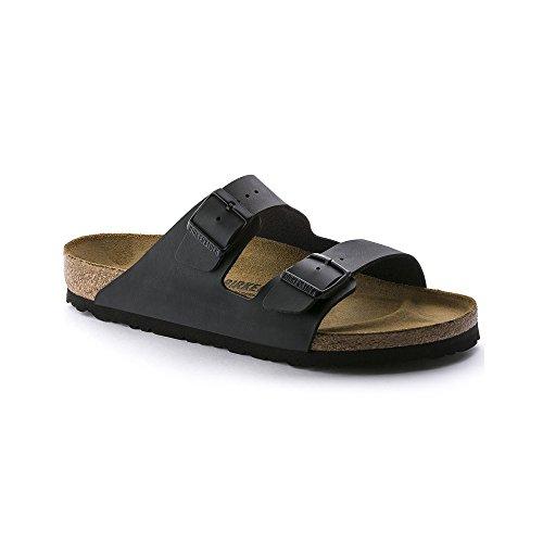 Birkenstock Arizona BLACK Birko-Flor Sandal - EU Size 44 / Women's US Size 13-13.5, Men's US Size 11-11.5