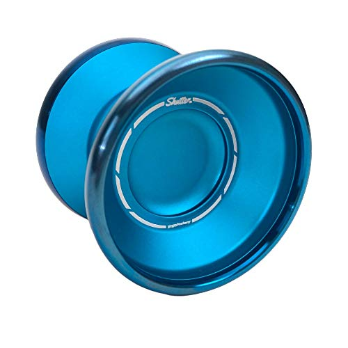 YoYoFactory Shutter BiMetal with Royalty Yoyo Color Aqua with Blue Ring