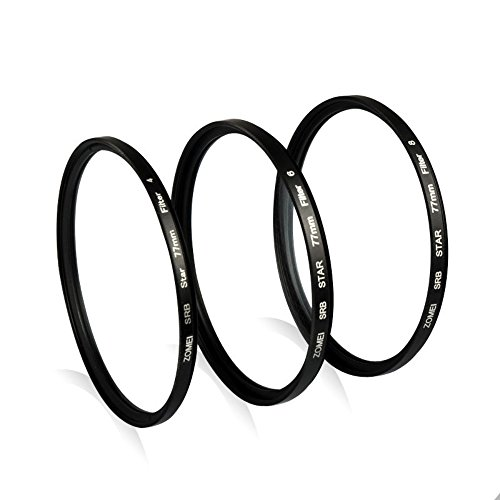 (ZOMEI Star Light Flare Cross Filter 4 + 6 + 8 Point Effects Filters (77 mm))