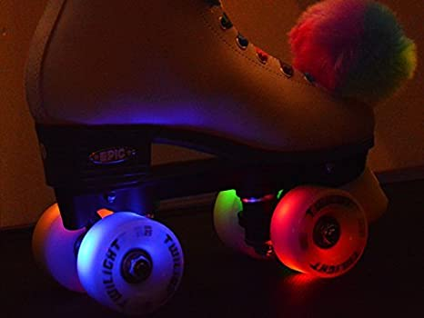 Epic Twilight LED Super Bright Light Up Roller Skate Wheels 4 or 8 pk Blue