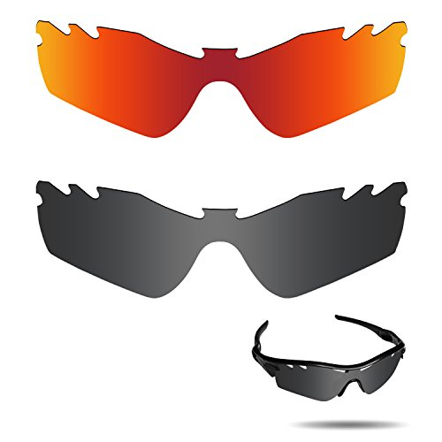 Fiskr Anti-saltwater Polarized Replacement Lenses for Oakley Radar Path Vented Sunglasses 2 Pairs - Sunglasses Vented