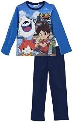 Yokai Watch Conjunto Pijama Azul con Marco Serigrafiado para niño 8 años: Amazon.es: Coche y moto
