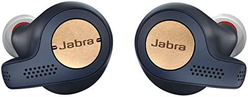 Jabra Elite Active 65t Alexa Enabled True Wireless Sports Earbuds with Charging Case - Copper Navy