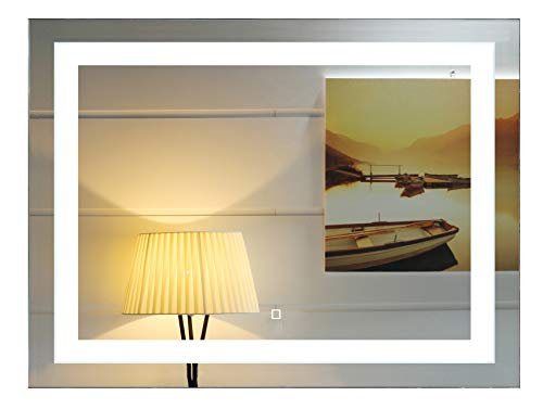 48X36 Inch Wall Mounted Led Lighted Bathroom Mirror with Touch Switch(GS099-4836R) (48x36 -