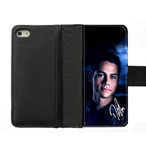 Fashion Dylan O'Brien Moon Teen Wolf Custom Diary Leather Coer Case Cover for IPhone 5S