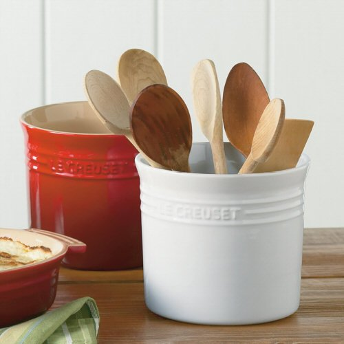 Amazon.com: Le Creuset Chili Red 2 3/4 Quart Stoneware Utensil Crock:  Kitchen U0026 Dining