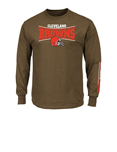 Cleveland Browns Golf (NFL Cleveland Browns Men's Tackle Trap Long Sleeve Crew Neck Fleece Tee, Large, Classic)