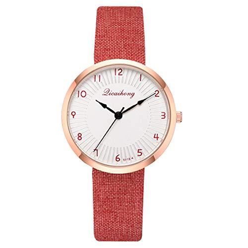 - HunYUN Sleek Minimalist Shell Print Monochrome Watch Leather with Women's Chronograph Wrist Watch
