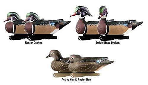Greenhead Gear Pro-Grade Duck Decoy,Wood Ducks,1/2 Dozen (Decoy Wood)