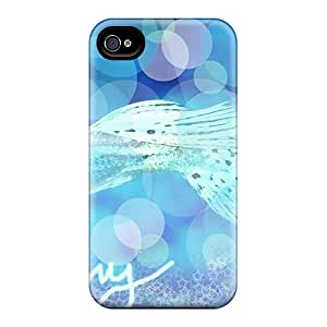 Fashion Protective Blue Neon Guppy Case Cover For Iphone 4/4s