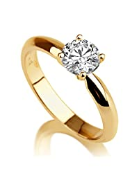 Moissanite Ring Forever One D-F VS 2.20ct (2.70ct dew) 9.00MM 14K Gold