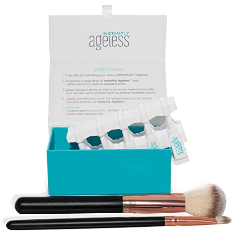 Jeunesse Instantly Ageless 25 Vials W/ 2 FREE Professional Makeup Brushes | Instantly Ageless 25 Vial Box Set with FREE Professional Brush Set by Instantly Ageless (Image #1)