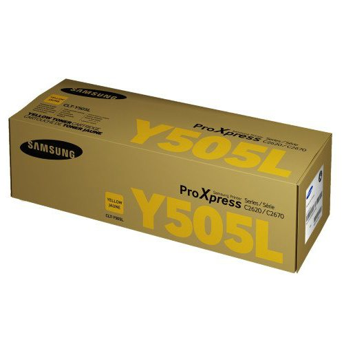 Samsung Genuine Brand Name, OEM CLTY505L Yellow Toner Cartridge (3.5K YLD) for Proxpress C2620DW, C2670FW Printers