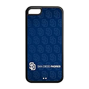 San Diego Padres Back Design for iPhone 5C TPU Case-by Allthingsbasketball