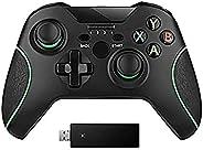 Control Xbox One Inalambrico + Transmisor Bluetooth Con Cargador