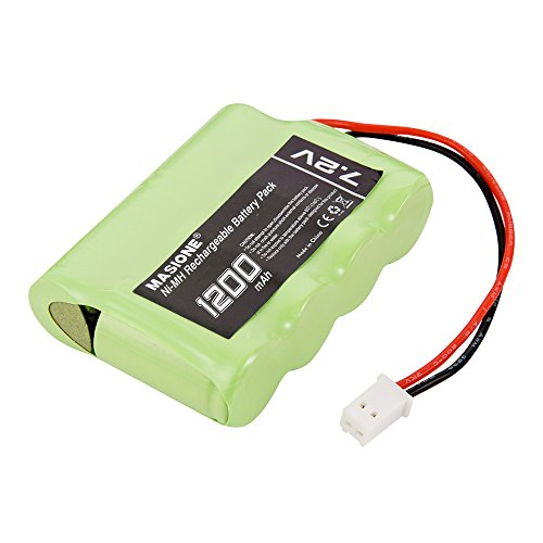 Masione 7.2V 1200mAh 6-Cell NiMH Battery, Drone Quadcopter Battery with Micro Molex Plug
