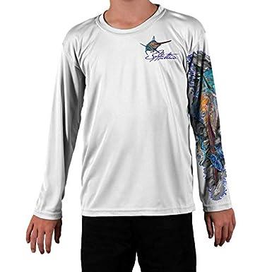 Jason Mathias Blue Marlin Youth LS High Performance Shirt