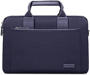 FUNUT Laptop Sleeve for MacBook 15 Inch,Waterproof & Multifunctional Brifecase Handbag for ChromeBook, Dell, Huawei, Samsung Laptops - Navyblue
