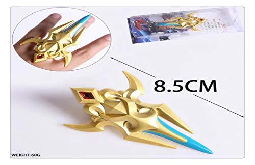 YshengHu Accessories Anime Cosplay Costume Keyring Pendant Golden Single Finger 8CM Metal Necklace Game Model Keychains YshengHu-341